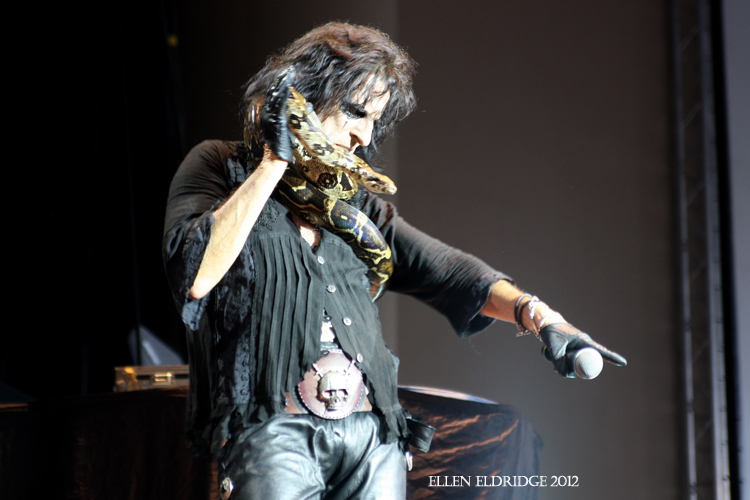 Alice Cooper opening for Iron Maiden in Atlanta 2012