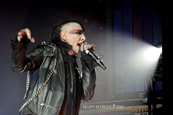 Marilyn Manson plays Tabernacle Atlanta July 17, 2013. Photo by Ellen Eldridge - click for review and full gallery published in Atlanta Music Guide
