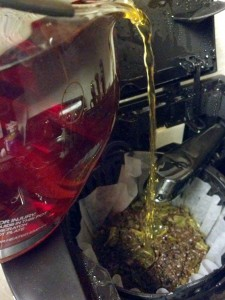 The double-brewing process for my raspberry green tea recipe using Tascia's Teas loose leaf tea. Though I took this photo for a blog-for-hire, I enjoy relaxing with tea in the quiet moments.