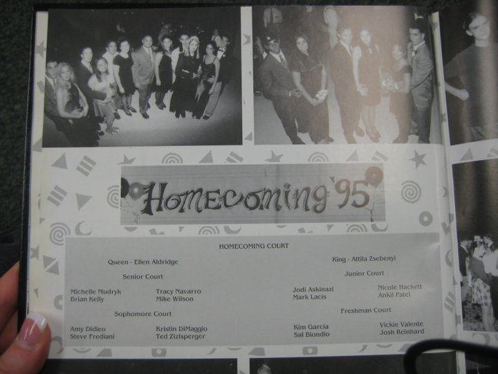A page from my high school yearbook the year I was crowned the Homecoming queen.